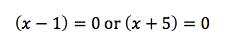 Solutions for quadratic equations