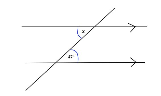 Alternate angle Q