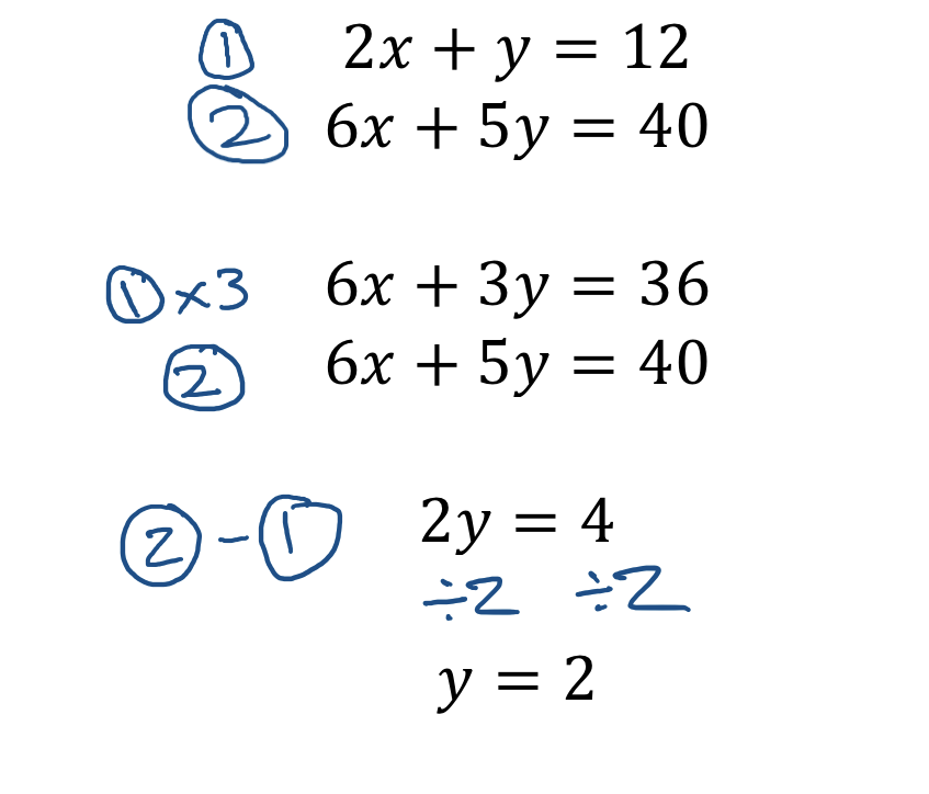 Label and solve for y