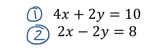 Label equations 1 and 2