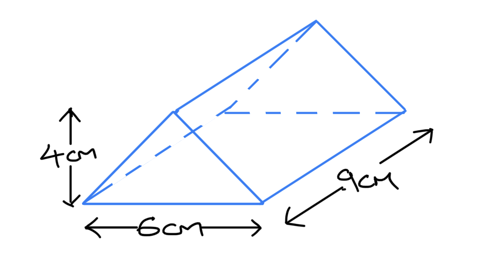 Volume of triangular prism