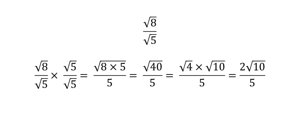 Surds for GCSE - rationalising the denominator