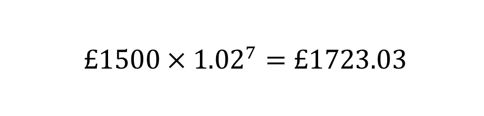 Compound interest example 2