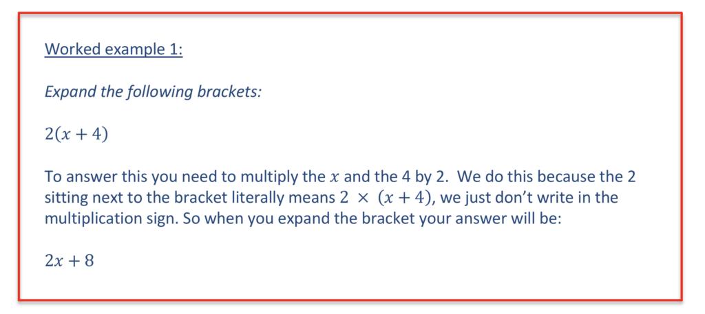 Algebra - Expanding Brackets
